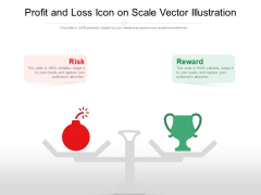 Profit And Loss Icon On Scale Vector Illustration Ppt PowerPoint Presentation Professional Slide Download PDF