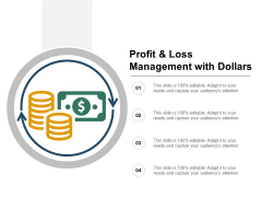 Profit And Loss Management With Dollars Ppt PowerPoint Presentation Portfolio Microsoft