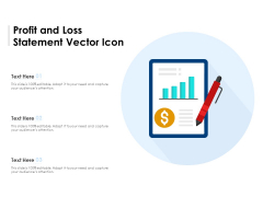 Profit And Loss Statement Vector Icon Ppt PowerPoint Presentation Gallery Slideshow PDF