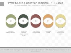 Profit Seeking Behavior Template Ppt Slides