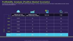Profitability Analysis Positive Market Scenario Information PDF