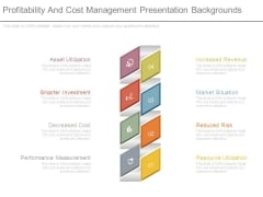 Profitability And Cost Management Presentation Backgrounds