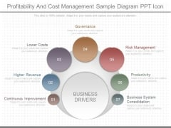 Profitability And Cost Management Sample Diagram Ppt Icon