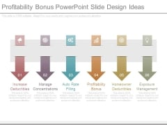 Profitability Bonus Powerpoint Slide Design Ideas