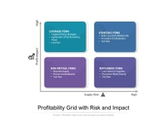 Profitability Grid With Risk And Impact Ppt PowerPoint Presentation File Infographics PDF