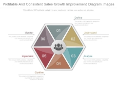 Profitable And Consistent Sales Growth Improvement Diagram Images