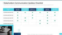 Profitable Initiation Project Engagement Process Stakeholders Communication Updates Checklist Background PDF