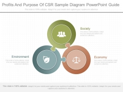 Profits And Purpose Of Csr Sample Diagram Powerpoint Guide