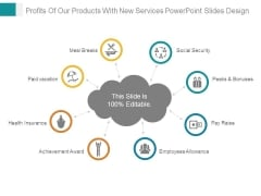 Profits Of Our Products With New Services Powerpoint Slides Design