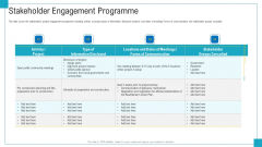 Program And PME Stakeholder Engagement Programme Ppt File Professional PDF