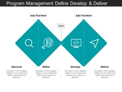 Program Management Define Develop And Deliver Ppt PowerPoint Presentation Portfolio Introduction