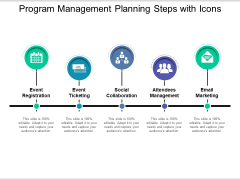 Program Management Planning Steps With Icons Ppt PowerPoint Presentation Professional Display