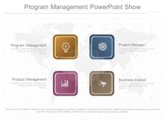 Program Management Powerpoint Show