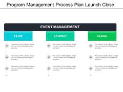 Program Management Process Plan Launch Close Ppt PowerPoint Presentation Pictures Graphic Tips