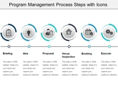 Program Management Process Steps With Icons Ppt PowerPoint Presentation Gallery Graphics Example