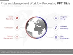 Program Management Workflow Processing Ppt Slide