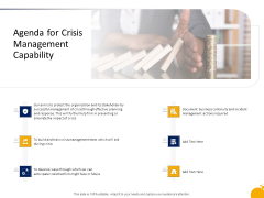 Program Presentation Agenda For Crisis Management Capability Ppt Gallery Ideas PDF