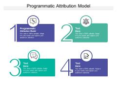 Programmatic Attribution Model Ppt PowerPoint Presentation File Grid Cpb