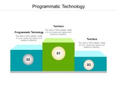 Programmatic Technology Ppt PowerPoint Presentation Slides Layout Ideas Cpb Pdf