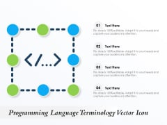 Programming Language Terminology Vector Icon Ppt PowerPoint Presentation Summary Guidelines PDF