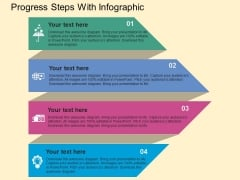 Progress Steps With Infographic Powerpoint Templates