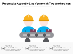 Progressive Assembly Line Vector With Two Workers Icon Ppt PowerPoint Presentation File Themes PDF