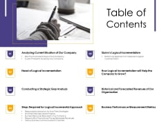 Progressive Table Of Contents Ppt Summary Themes PDF
