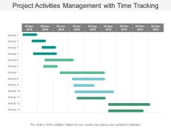 Project Activities Management With Time Tracking Ppt PowerPoint Presentation Layouts Icon