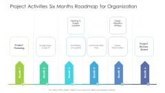 Project Activities Six Months Roadmap For Organization Microsoft