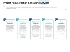 Project Administration Consulting Services Ppt PowerPoint Presentation File Deck