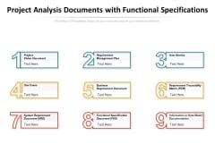 Project Analysis Documents With Functional Specifications Ppt PowerPoint Presentation Professional Topics