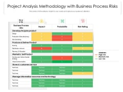 Project Analysis Methodology With Business Process Risks Ppt PowerPoint Presentation Slides Files PDF