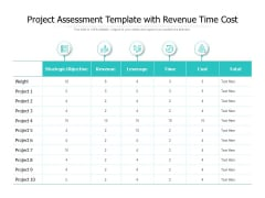 Project Assessment Template With Revenue Time Cost Ppt PowerPoint Presentation Layouts Background Designs