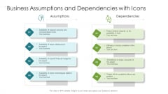 Project Assumptions And Dependencies On Different Attributes Ppt Styles PDF