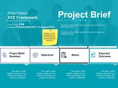 Project Brief Objectives Status Ppt PowerPoint Presentation Visual Aids Icon