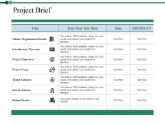 Project Brief Ppt PowerPoint Presentation Ideas Show