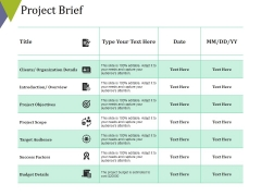 Project Brief Ppt PowerPoint Presentation Infographics Tips