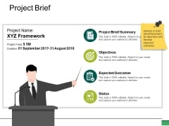 Project Brief Ppt PowerPoint Presentation Inspiration Example Topics