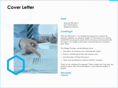 Project Budget Cover Letter Ppt PowerPoint Presentation Infographic Template Graphics Download PDF