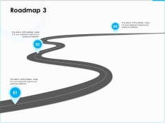 Project Budget Roadmap Three Stage Process Ppt PowerPoint Presentation Model Show PDF