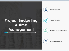 Project Budgeting And Time Management Ppt PowerPoint Presentation Layouts Graphics Example