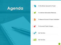 Project Capabilities Agenda Ppt Summary Vector PDF