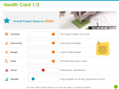 Project Capabilities Health Card Ppt Inspiration Graphic Images PDF