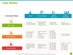 Project Capabilities Task Matrix Ppt Infographics File Formats PDF