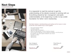 Project Capitalization Proposal Next Steps Ppt Gallery Show PDF