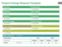Project Change Request Template Ppt PowerPoint Presentation File Graphic Tips