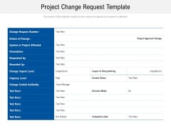 Project Change Request Template Ppt PowerPoint Presentation Ideas Example PDF