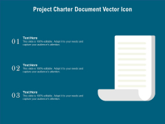 Project Charter Document Vector Icon Ppt PowerPoint Presentation File Background Designs PDF