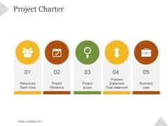 Project Charter Ppt PowerPoint Presentation Layouts