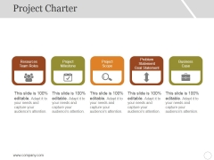Project Charter Ppt PowerPoint Presentation Professional Demonstration